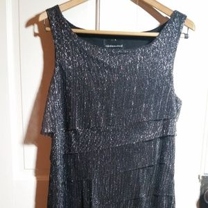 Black and Silver Party Dress Roaring 20s theme